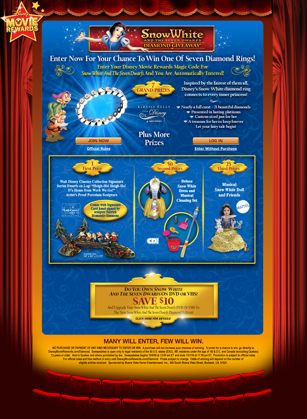snow white and the seven dwarfs diamond giveaway