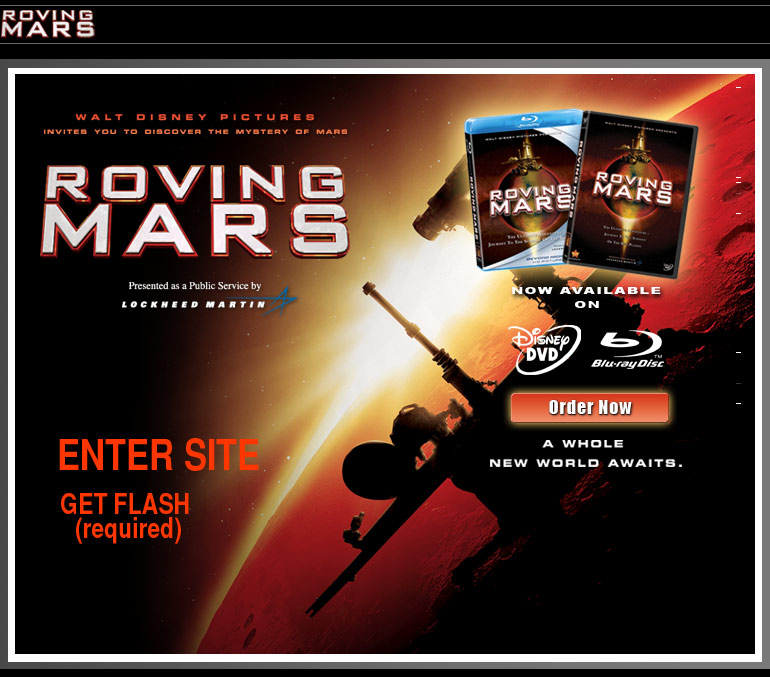 Roving mars the official dvd website Go to the website