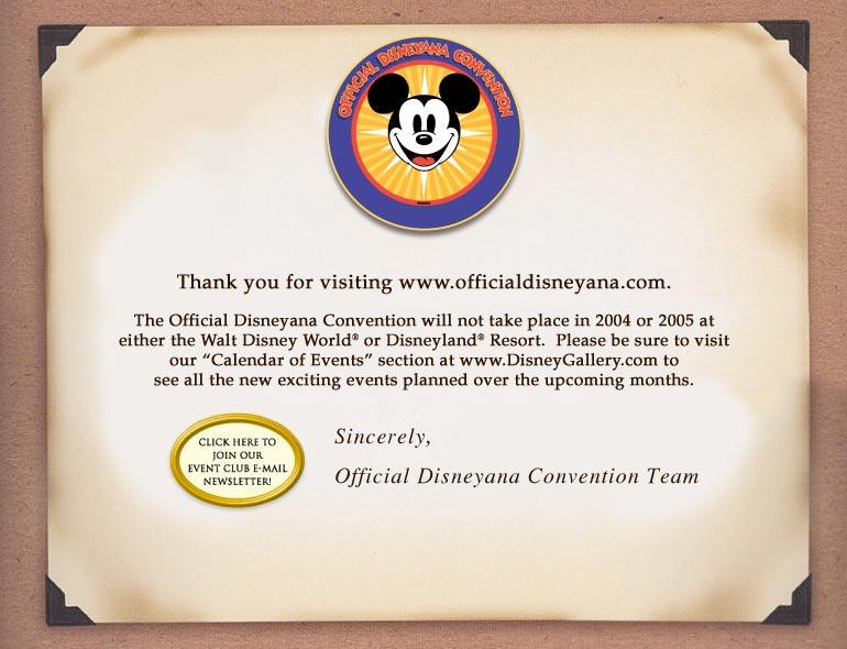 Official Disneyana Convention
