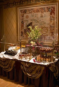 Club 33's luscious lunchtime dessert spread.