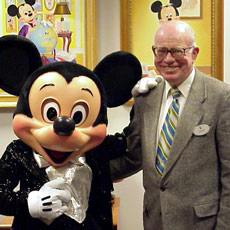 Disney Archivist Dave Smith and a special friend.