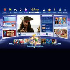 The new Disney.com home page is alive with exciting features.