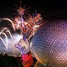 Fireworks over Epcot