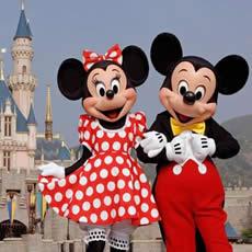 Mickey and Minnie at Disneyland