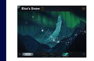 Control Elsa's magical snow from the upcoming film Frozen
