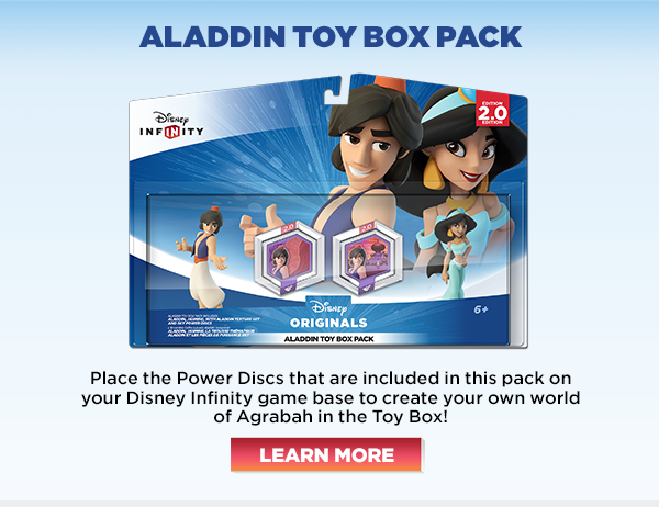 Place the Power Discs that are included in this pack on your Disney Infinity game base to create your own world of Agrabah in the Toy Box!
