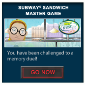 Subway® Sandwich Master Game