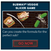 Subway® Veggie Slicer Game